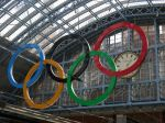 Olympic Circles at St Pancras
